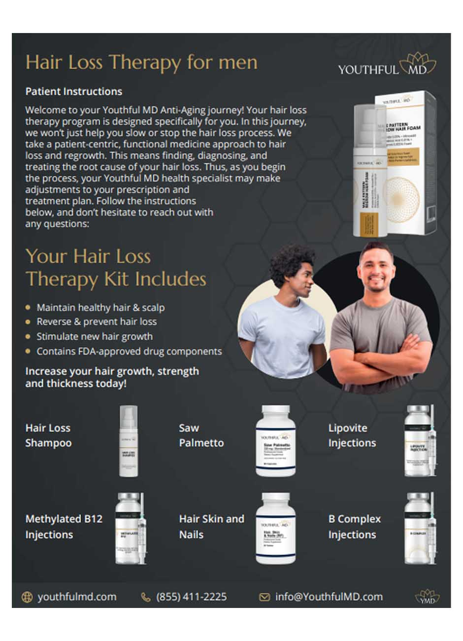 YMD Men's hair loss patient instructions